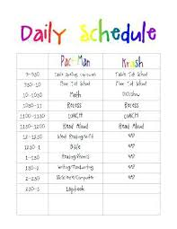 Downloadable Daily Planner Enchanting Printable Daily Routine Schedule Template Autism Class Carpaty