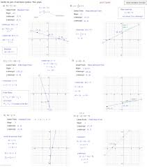 linear equations exercise solutions