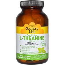 <b>L</b>-<b>Теанин</b>, <b>L</b>-<b>Theanine</b>, Country Life, <b>100 мг</b>, <b>60</b> таблеток - в ...