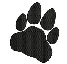 Cat Silhouette Embroidery Design Cat Paw Halloween Silhouette Design
