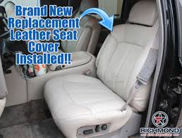 2000 2002 chevy tahoe suburban lt ls z71 leather seat cover driver side lean back gray