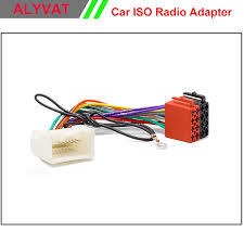 online buy whole mitsubishi wiring harness from car iso stereo wiring harness for mitsubishi 2007 onwards adapter connector auto radio adaptor lead loom