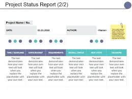 Project Status Slide Project Status Report Template Presentation Model Background