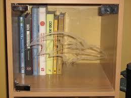 picture of etched plexiglass cabinet door