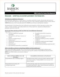Accomplishments On Resume Resume For Your Job Application