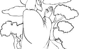 Jesus Praying Coloring Pages Prayer Sheets For Adults Free Our