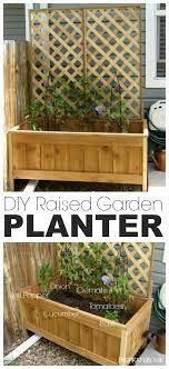 raised cedar garden planter tutorial