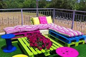 outdoor furniture made from pallets. Garden Furniture Made From Cable Drums And Wood Pallets Actually Doesn\u0027t Look So Bad (PHOTO) | HuffPost Outdoor