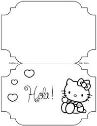 printable hello kitty card template sitting hola printable hello kitty card template printable treats com on bunting template to print