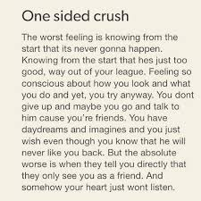 Quotes About One Sided Friendship Impressive One Sided Crush Pictures Photos And Images For Facebook Tumblr