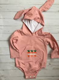 Ac Designs Clothing Pink Easter Bunny Body Suits