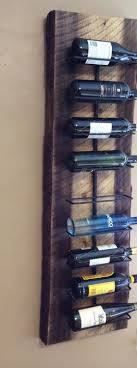 Wall Hanging Wine Rack in solid wood