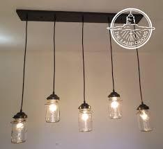 chandelier vintage mason jar pendant lights rectangular five ceiling lighting fixture by lampgoods