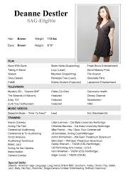 Child Model Resume Actrees Resume Examples Resume Template Info