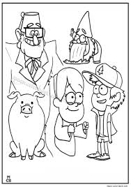 20 Gravity Falls Fords Hand Coloring Page Ideas And Designs