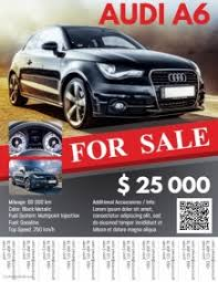 Car For Sale Flyer Templates 1 Budget Spreadsheet