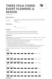Event Planner Resume Samples VisualCV Resume Samples Database lI4nuTJ0