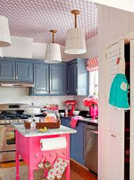 Light Pink Kitchen Chic Coastal Kitchen Design Ideas White Painted Cabinet Geometric