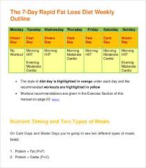 8 Weekly Weight Loss Chart Template Free Premium Templates