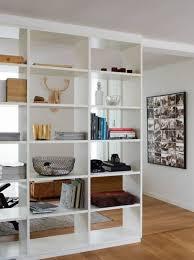 White Open Bookcase Room Divider Idea
