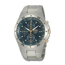 men s watches designer fashion watches h samuel seiko men s blue dial titanium bracelet watch product number 9805672