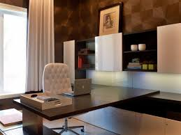 contemporary home office design. Pattern Accent Walls Gives Luxury Office Look Contemporary Home Design