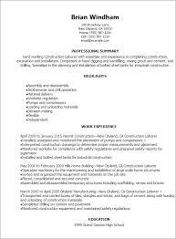 Laborer Resume Example Musiccityspiritsandcocktail Com