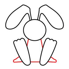 Rabbit Cartoon Outline Free Download Best Rabbit Cartoon Outline