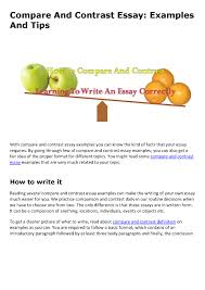 Essay Of Comparison And Contrast Examples Compare And Contrast Essay Authorstream