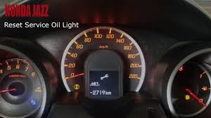 2008 Honda Fit Maintenance Light Reset Honda Jazz Reset Service Light