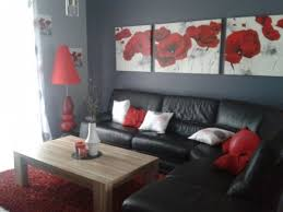 Décoration Salon Gris Et Rouge   Recherche Google