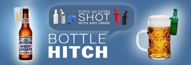 bottle shaped shot glasch