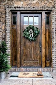 wooden front doors. Double Front Doors With Glass Home Design Plan Rustic Wood Wooden Oak