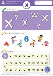 Order hard copies of our phonics monster series on amazon.com! Letter Recognition Phonics Worksheet X Lowercase Super Simple
