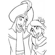 Disegno Di Principe Alladin E Principessa Jasmine Da Colorare Per