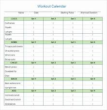 Monthly Workout Schedule Template Monthly Workout Schedule Template Fresh Free Blank Calendar