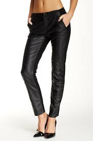 details about blank nyc women s black blank nyc slap happy vegan leather pants size 29 108