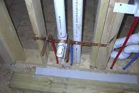 bathroom sink pex water line stub out