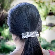 Oberon Design Hair Clips Hair Clip Barrette Large Celtic 80mm