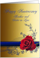 Wedding Anniversary Cards for Brother & Sister in Law from ...