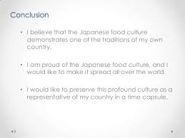 ie business school essay k 7 8 conclusion bull i believe that the ese food culture