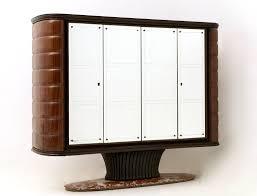 Barschrank Aus Palisander Mit Spiegel Und Rotem Travertin Marmor Sockel Von Vittorio Dassi 1950er