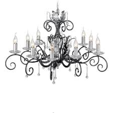 amarilli large 10 light traditional chandelier black silver
