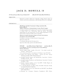 Military Transition Resume Examples Retired Military Resume