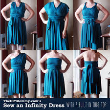 Infinity Dress Pattern Simple A Free Tutorial On How To Sew An Infinity Dress With A Built In Tube