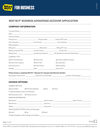 Business Account Application Best Buy Business Advantage Account Application