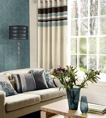 Striped Bedroom Curtains Blue And Brown Striped Curtains