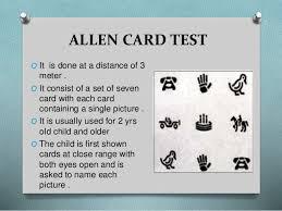 Allen Eye Chart Visual Acuity In Preschool Children