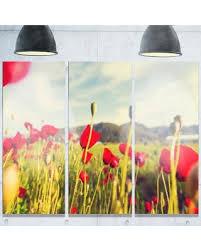 designart wild red poppy flowers in field large flower metal wall art 36 on poppy flower metal wall art with don t miss this bargain designart wild red poppy flowers in field