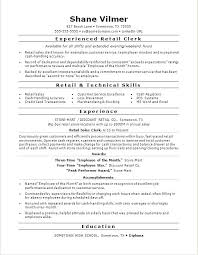 Retail Clerk Resume Cosy Sample Resume Sales Clerk Retail For Resume ...